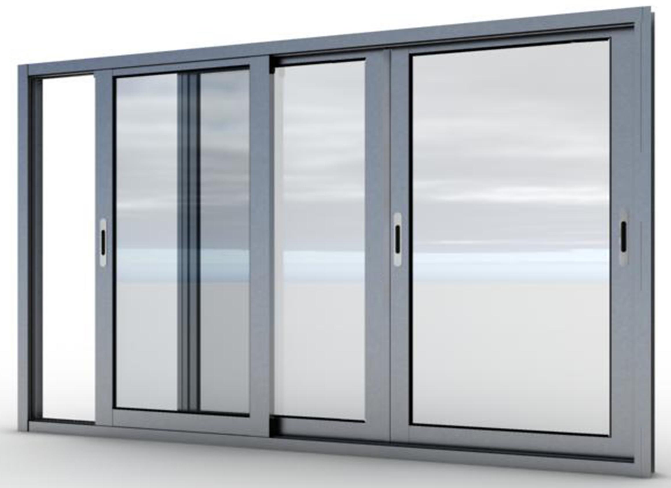 Алюминиевые раздвижные балконные рамы.